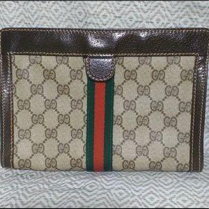 Gucci Vintage Clutch Cosmetic Bag